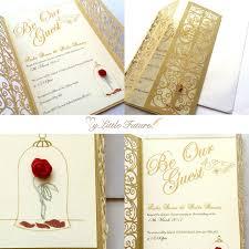 Amazing Beauty And The Beast Wedding Invitations Disney Wedding