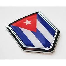 Amazon Com Car Chrome Decals Cuba Cuban Flag Decal Car Chrome Emblem Sticker 3d Decal Cbshd053 Automotive