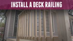 How To Install A Deck Railing Diy Network Youtube