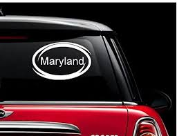 Amazon Com Maryland Window Decal Sticker For Car Truck Auto Suv Decals Stickers Bumper Window Maryland Automotive