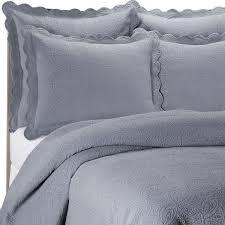 matelasse coventry slate blue quilt set