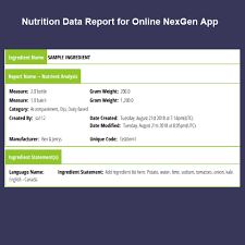 t ysis nutrition food labeling