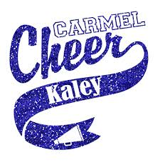 Glitter Carmel Cheer Car Decal L M Spirit Gear