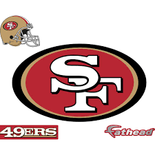 Fathead 28 In H X 48 In W San Francisco 49ers Logo Wall Mural 14 14040 The Home Depot
