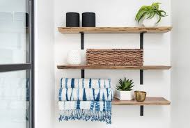 stacked wood shelves design ideas