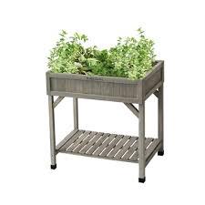 raised garden bed herb planter