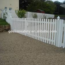 Picket Style Vinyl Pvc Portable Temporary Event Fence Panel With Free Stand Post Base Feet White Free Standing Picket Fence View Temporary Event Fence Geelian Product Details From Chengdu Geelian Safety Co