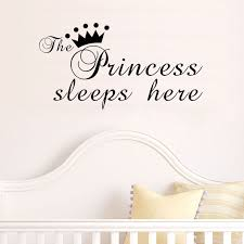 The Crown Princess Sleep Here Star Kids Room Wall Stickers Waterproof Wall Stickers Decals Decoration House Decoration House The Princess Sleeps Herewaterproof Wall Sticker Aliexpress