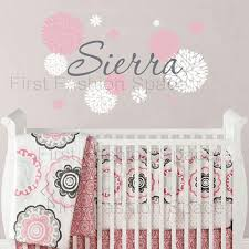 Baby Girl Name Wall Decal With Dahlia Flowers Baby Girl Nursery Or Teen Bedroom Wall Decal Personalized Vinyl Wall Decor Wall Decor For Baby Wall Decoration From Baby Helene 15 07 Dhgate Com