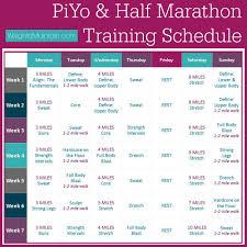 piyo half marathon plan
