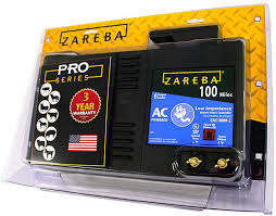 Amazon Com Zareba 100 Mile Ac Powered Low Impedance Electric Fence Charger Energizes Up To 100 Miles Of Fence Under Optimal Conditions Works In Heavy Weed Conditions Include Storm Guard Lightning Protection