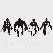 Iron Man Hulk Thor Captain America Car Sticker