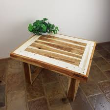 recycled timber coffee table dark