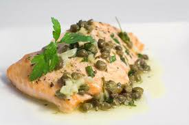 Baked Salmon with Lemon Caper Butter ...