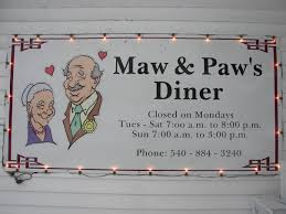 maw and paw s diner eagle rock va 24085