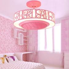 Bladeless Led Kids Room Ceiling Fan With Light In Blue Pink Takeluckhome Com