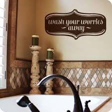 Wash Your Worries Away Bathroom Wall Art Bathroom Decor Entryway Signs