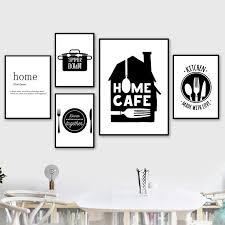 black and white canvas painting kitchen