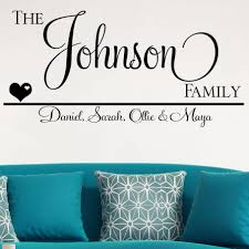 Family Name Vinyl Wall Personalized Last Decal Stencils Custom Design Tree With Established Vamosrayos
