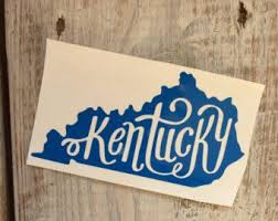 Kentucky Car Decal Etsy Car Decals Sticker Shop Decals
