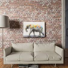 Shop Yosemite Home Decor Dazzling Elephant Original Hand Painted Wall Art Multi Overstock 16315448