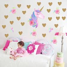 Unicorn Wall Decal Personalized Name Viny Art Stickers For Kids Rooms Cute Animal Decals Home Decor Girls Gift Wall Sticker Design Wall Sticker Designs From Pcharon 0 77 Dhgate Com