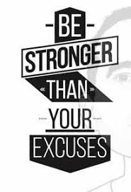 Vinyl Wall Decal Be Stronger Than Your Excuses Gym Sticker Wall Art Ebay