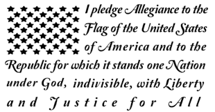 Pledge Of Allegiance In Shape Of American Flag 50 Stars Vinyl Decal For Truck Car Suv Jeep Pledge Of Allegiance American Flag Decal Star Vinyl