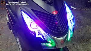 Độ đèn Led Audi xe Happy Vision 2017 mẫu Mắt Cú - YouTube