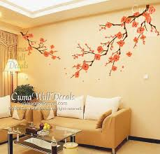 Cherry Blossom Wall Decals White Flower Vinyl Mural Nature By Cuma 79 00 Nursery Wall Murals Tree Wall Decal Wall Decals