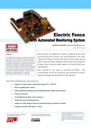 Electric Fences With Automated Monitoring System