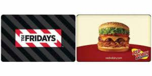 50 tgi fridays gift card for 40 or
