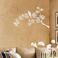 White Little Bird Sitting On A Tree Branch Wall Sticker
