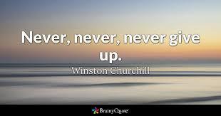 winston churchill never never never give up