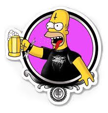 Black Metal Homer Simpson Cut Vinyl Sticker Vera S Eyecandy