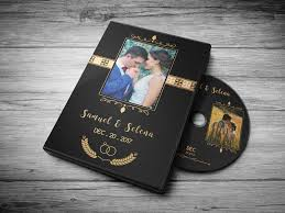 wedding dvd cover gold design by