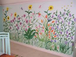 Flower Garden Wall Murals Design Wall Murals Pinterest Wall Garden Mural Mural Mural Design