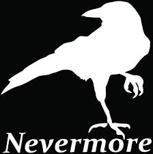 The Raven Nevermore Vinyl Decal Car Window Bumper Sticker Edgar Allan Poe Bird