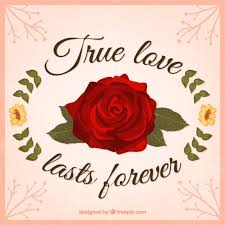true love card free vector free