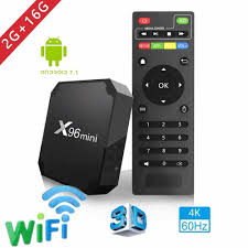 2018 X96 mini tv box Android 7.1.2 2GB 16GB Android TV BOX Amlogic S905W  Quad Core Support H.265 UHD 4K WiFi X96mini Set top box|