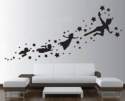 Peter Pan Wall Decal Removable Vinyl Sticker Mural Christmas Etsy