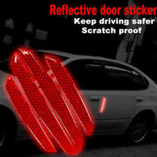 4pcs Red Car Side Body Warning Reflective Graphics Red Decal Sticker Tls J Ebay