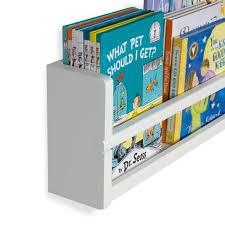 White Nursery D Cor Wall Shelves 2 Shelf Set Wood Floating Bookshelves For Baby Kids