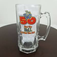 hell did i get this old glass beer mug