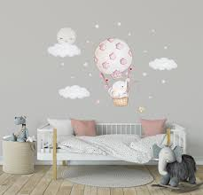 Elephant Nursery Wall Decal Nursery Decals Moon Wall Decal Elephant Ba Kidscutedecorations