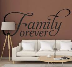 Family Forever Home Text Wall Sticker Tenstickers