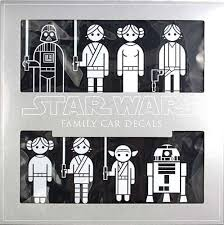 Star Wars Car Family Auto Decals Set Of 50 Stickers