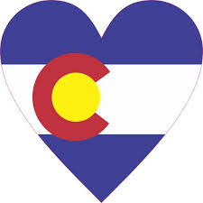 4inx4in Colorado Flag Heart Sticker Vinyl Cup Decal State Bumper Stickers Stickertalk