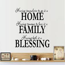 Decal Home Family Blessing Wall Decal Home Decor Walmart Com Walmart Com