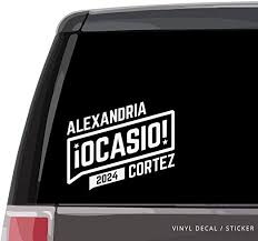 Amazon Com Lplpol Alexandria Ocasio Cortez Car Window Decal Aoc 2024 2018 2022 2028 Vinyl Sticker Bumper Laptop Drinkware 6 Kitchen Dining